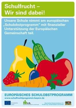 Plakat Schulfruchtprogramm
